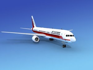 airline boeing 757 757-200 3d dwg
