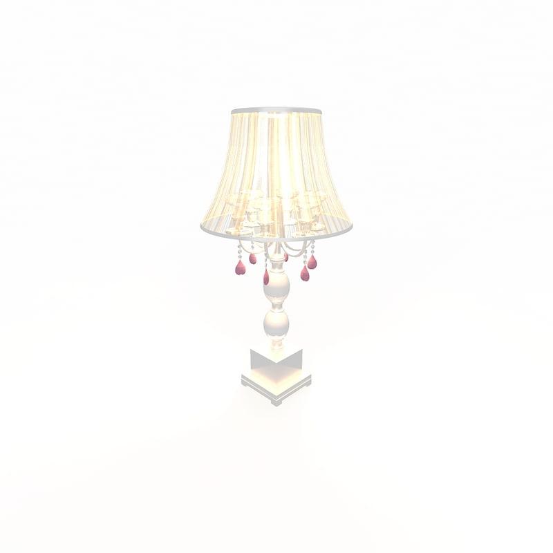 classic table lamp 3d model