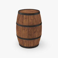 medieval wooden cask 3d model
