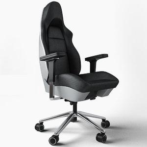 porsche office chair 3d model