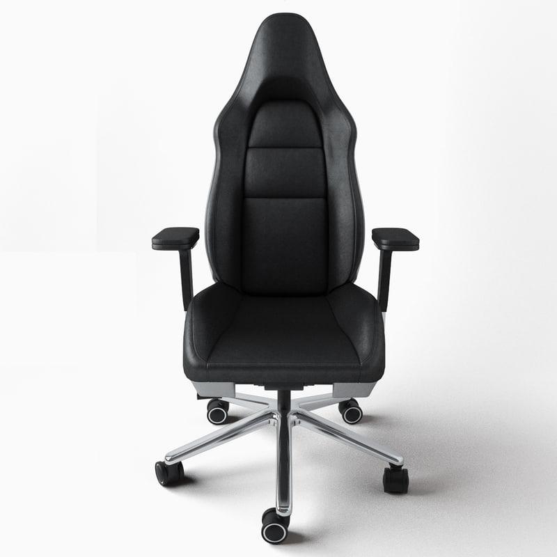 sc 1 st  TurboSquid & porsche office chair 3d model