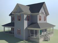 house sign 3d model