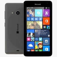 3d model of microsoft lumia 535 dual