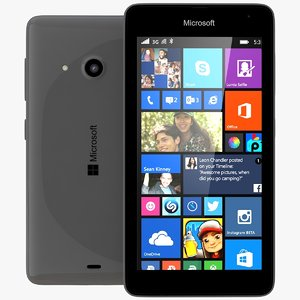 3d model of microsoft lumia 535 dual