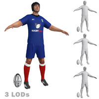3d model rugby player