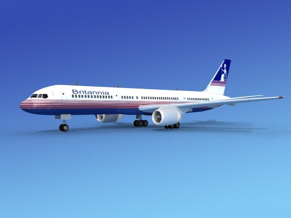 airline boeing 757 757-200 3d model