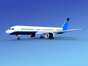 3d airline boeing 757 757-200 model