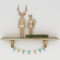deer fox decor 3d max