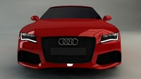 3d model audi rs7 car