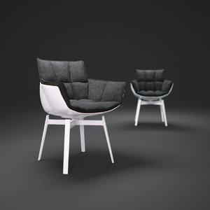 b b-husk-chairs 3d model