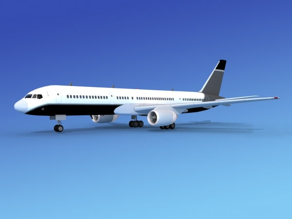 airline boeing 757 757-200 3d max