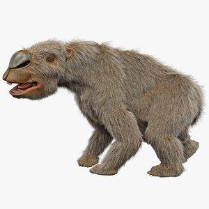 3dsmax diprotodon fur rigged