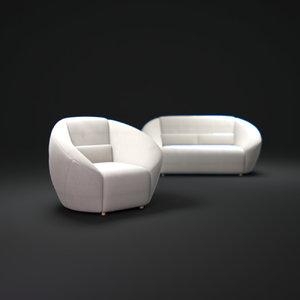 avec-plaisir-smith-sofas 3d model
