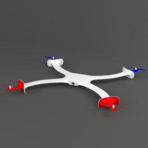 3d model micro drone