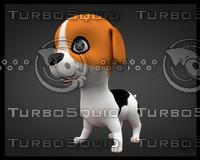dog puppy 3d max