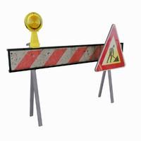 construction barrier 3ds