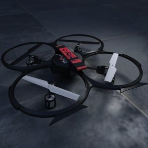3d model of drone quadcopter