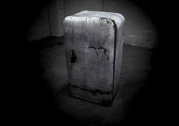 3d model of abandoned fridge