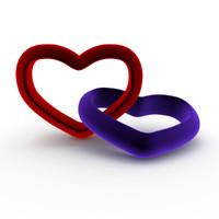 3d model hearts