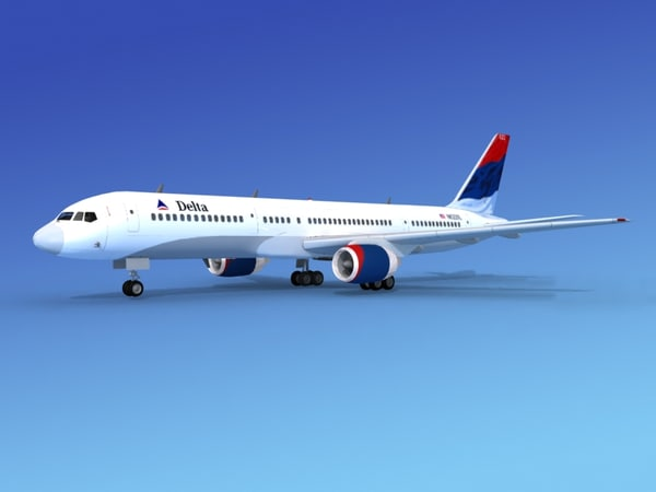 airline boeing 757 757-200 dxf