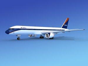 airline boeing 757 757-200 3d lwo
