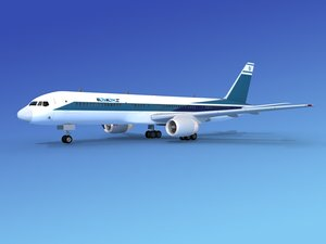 3d model of airline boeing 757 757-200