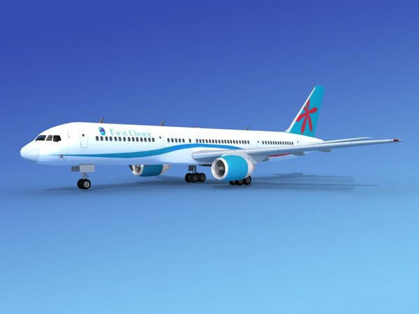 3d model airline boeing 757 757-200