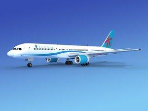 3d model airline boeing 757 757-200