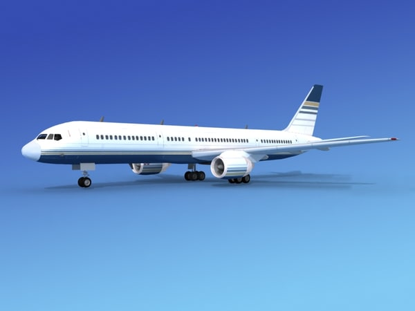 airline boeing 757 757-200 3d 3ds