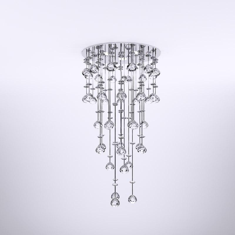3d crystal chandelier
