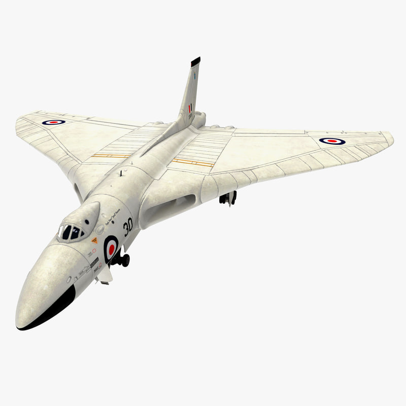 3d aircraft avro vulcan rigged