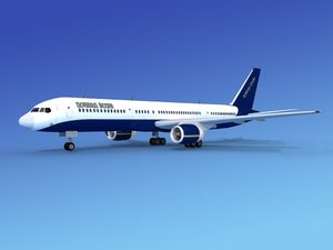 airline boeing 757 757-200 3d dxf