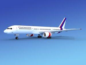 airline boeing 757 757-200 3d model