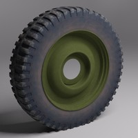 wheel military vehicle 3d model