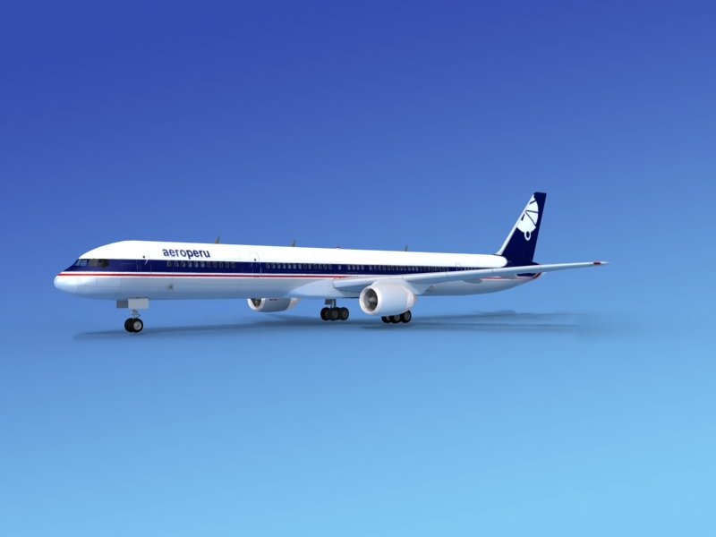 airline boeing 757 757-300 3d max