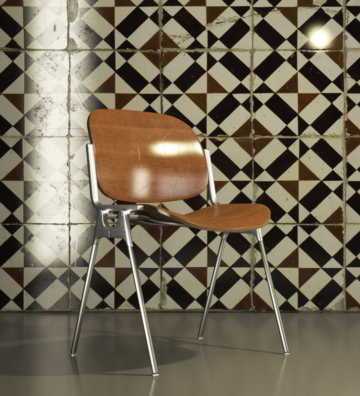 c4d vintage chair