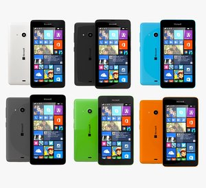 3d model microsoft lumia 535 dual