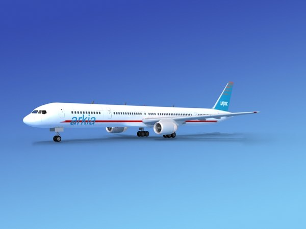 airline boeing 757 757-300 3d dxf