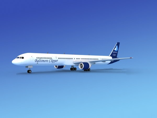 3d airline boeing 757 757-300 model
