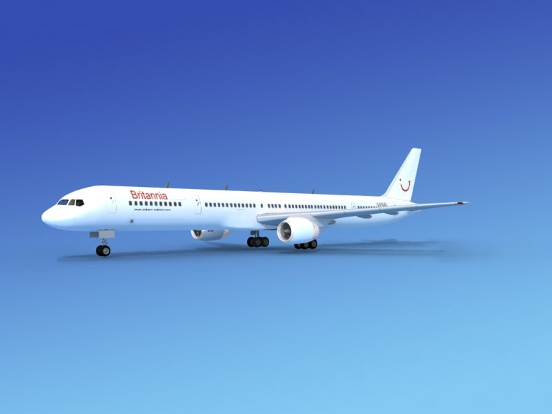 airline boeing 757 757-300 3d 3ds