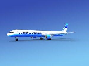 3d airline boeing 757 757-300 model