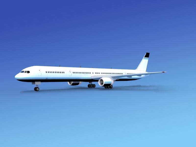 airline boeing 757 757-300 3d lwo
