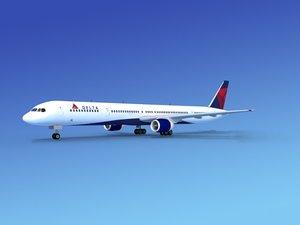 airline boeing 757 757-300 3d model