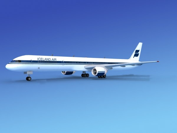 3d model airline boeing 757 757-300