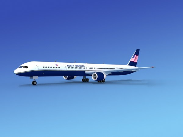 airline boeing 757 757-300 3d model