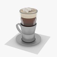 3dsmax cappuccino mug cream