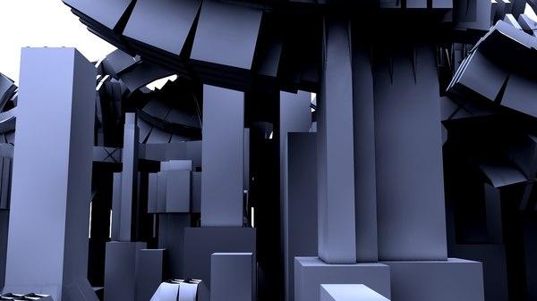 terror cityscape city 3d model
