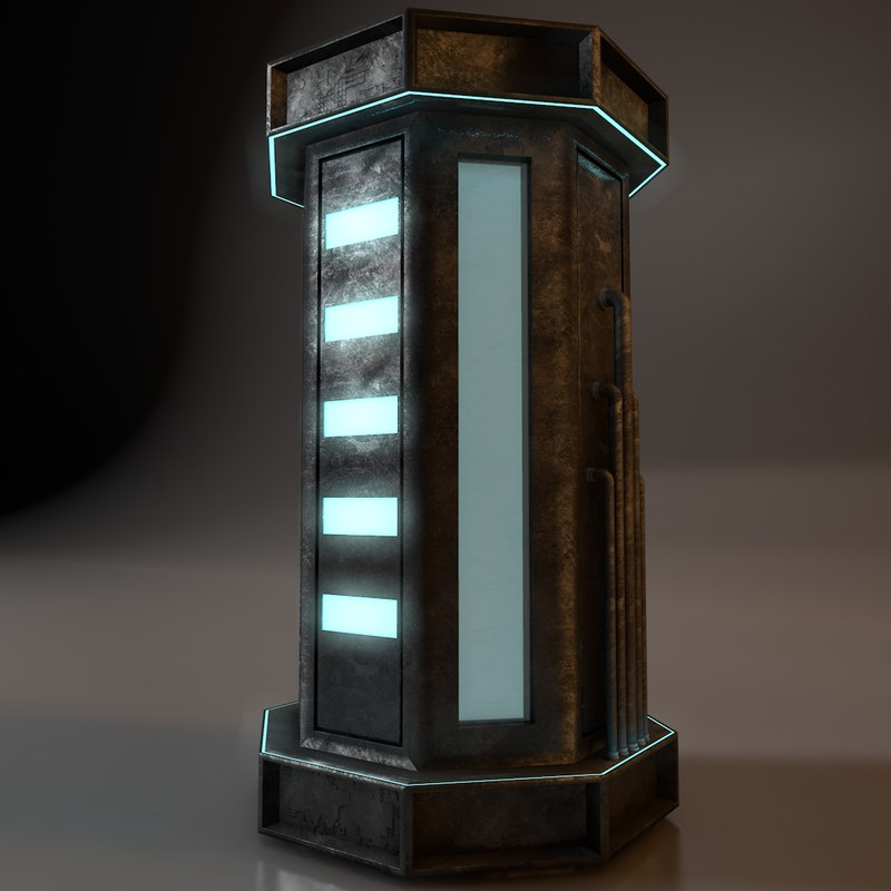 sci fi container 3d model