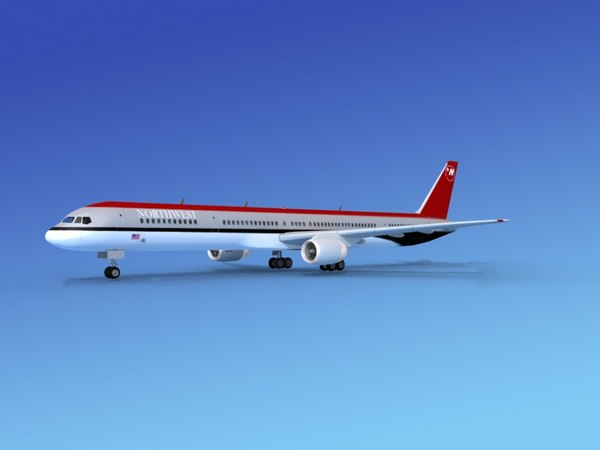 3d model of airline boeing 757 757-300