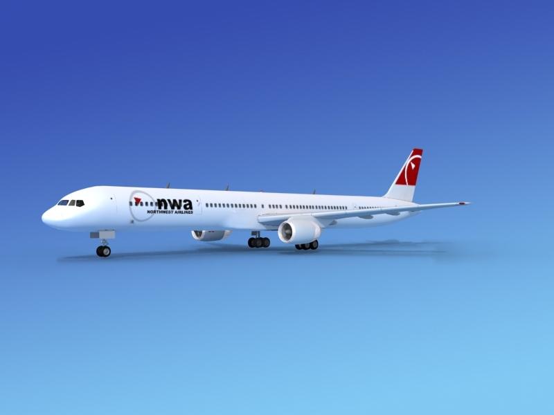 3d model airline boeing 757 757-300